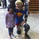 Rosmina with Supergirl on Rollerskates