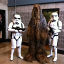 Stormtroopers and Chewbacca