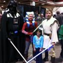 Rosmina with Darth Vader and Young Obi Wan